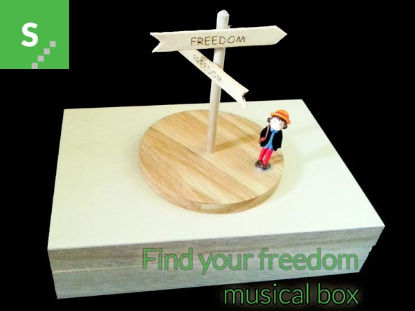 Find your freedom - musical box prototype