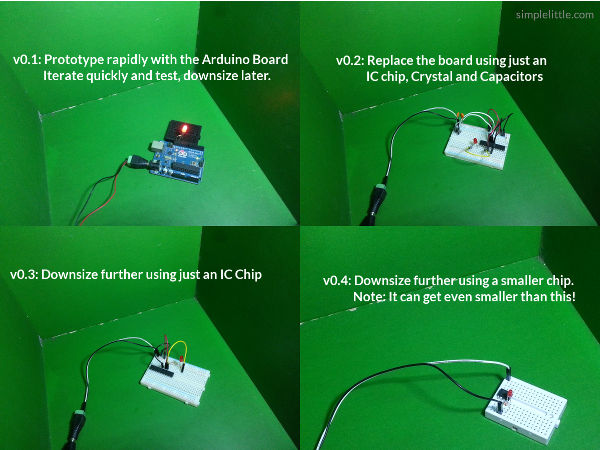 Moving from the larger Arduino Board to smaller IC chips