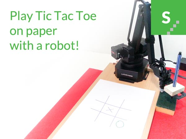 Robotic Arm Plays Tic Tac Toe